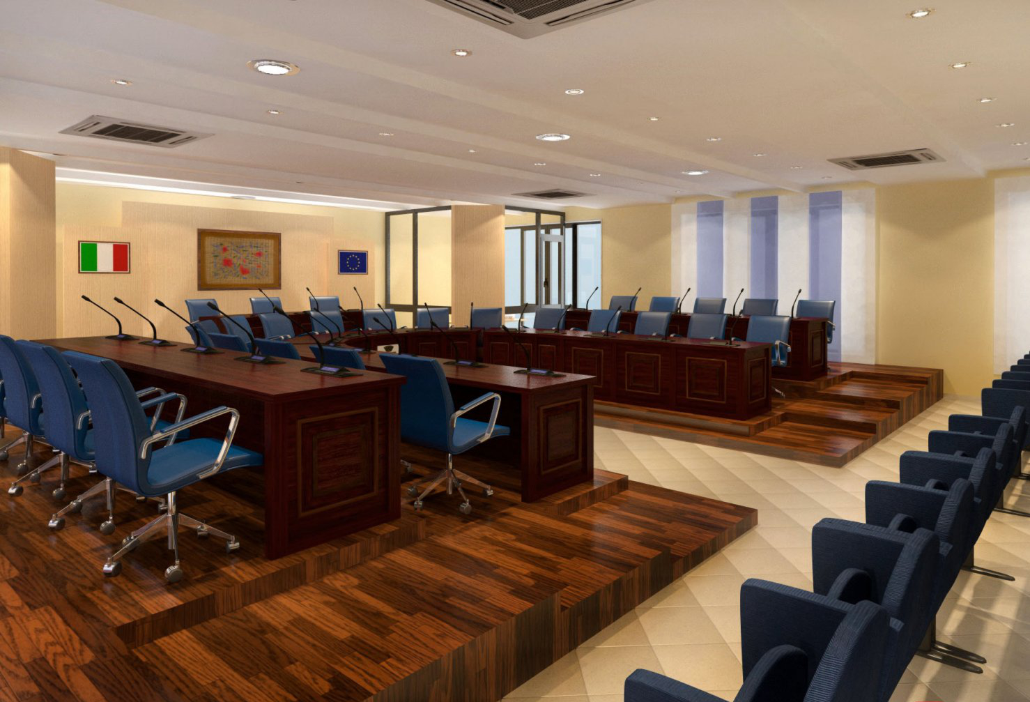 Allestimenti per Sale Conferenze e Aule Consiliari